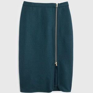 J.Crew Wool Zip Pencil Skirt
